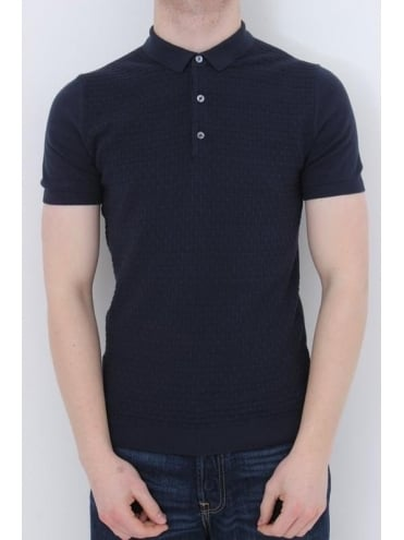Remus Uomo Knitted Polo - Navy