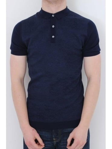 Remus Uomo Knitted Polo - Blue