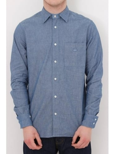 Vivienne Westwood Anglomania Detachable Collar Shirt - Blue