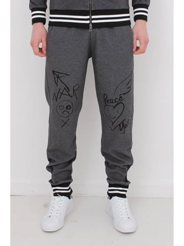 Vivienne Westwood Anglomania Workers Logo Sweat Pants - Grey
