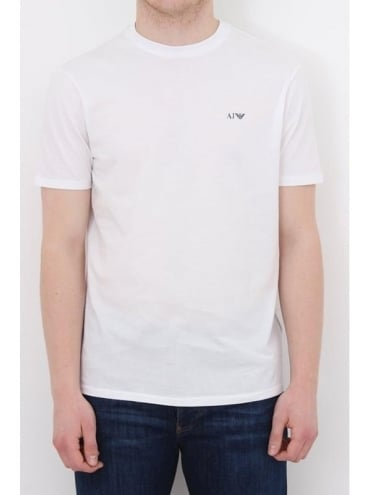 Armani Jeans Basic Logo Crew Neck T.Shirt - White