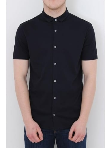 Armani Jeans Button Through S/S Shirt - Dark Navy