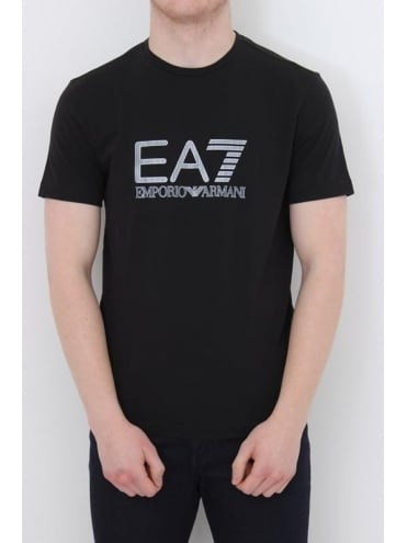 EA7 Chest Logo T.Shirt - Black