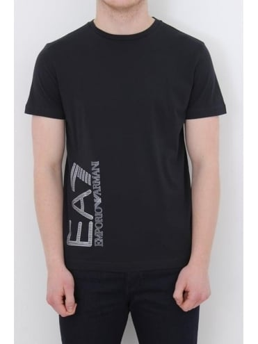 EA7 Oversized Logo T-Shirt - Navy