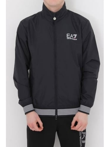 EA7 Core Logo Tipped Bomber Jacket - Navy