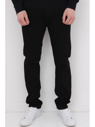 Edwin ED80 CS White Listed Salvage Jeans - Black