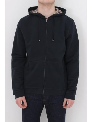 Aquascutum Luther Hooded Sweat - Navy