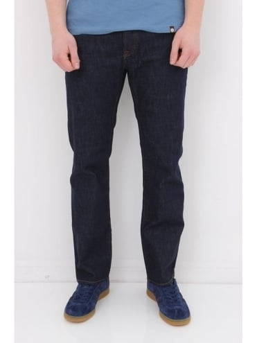 Pretty Green Burnage Regular Fit Jeans - Rinse Wash