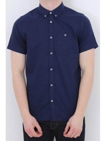 Luke 1977 Adam Keyte Baseball Col Shirt - Navy