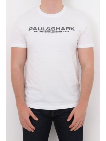 Paul and Shark Heritage Crew Neck T.Shirt - White