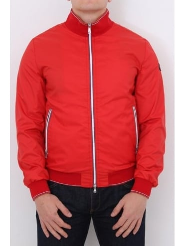 Paul and Shark Tipped Funnel Neck Blouson - Red