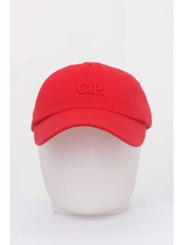 CP Company Logo Cap - Red
