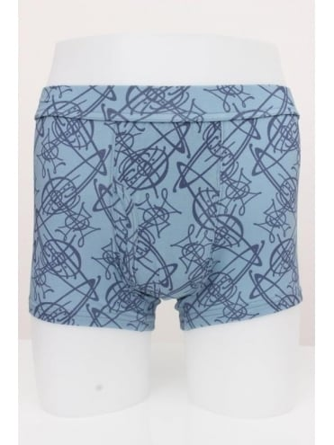 Vivienne Westwood Anglomania All Over Orb Print Boxer Short - Light Blue
