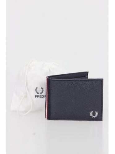 Fred Perry Scotgrain Billfold Wallet - Navy