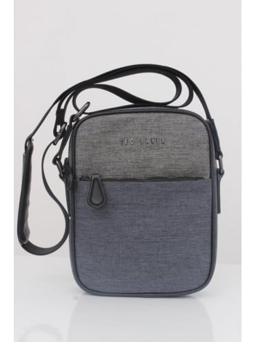 Ted Baker Manowar Nylon Flight Bag - Charcoal