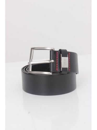 HBR - HUGO Hugo Boss C-Connio Leather Belt - Black