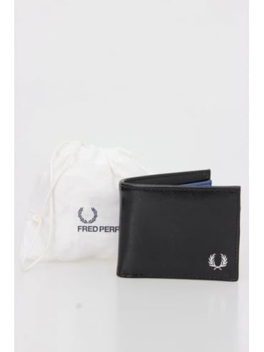 Fred Perry Billfold And Coin Wallet - Black