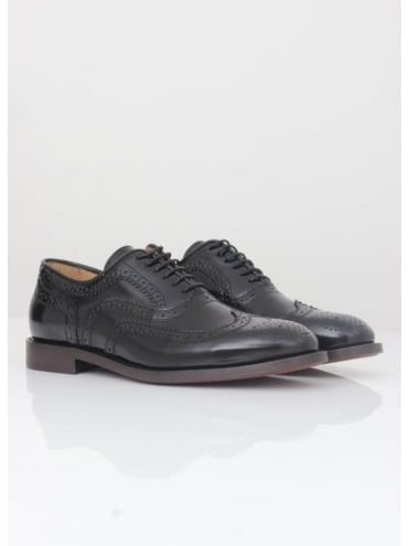 Hudson London Heyford Hi Shine Brogue - Black