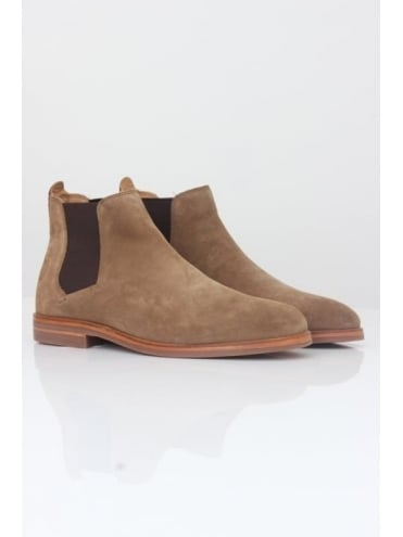 Hudson London Tonti Suede Boot - Tobacco