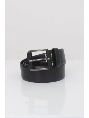 HUGO BOSS Till Leather Belt - Black