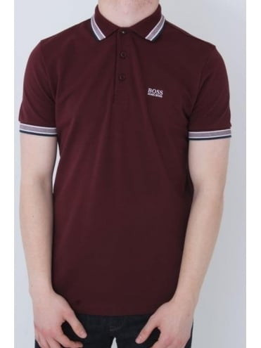 - BOSS Green Paddy Polo - Medium Red