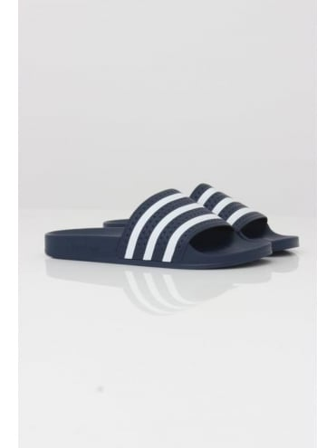 adidas Originals Adilette - White And Blue