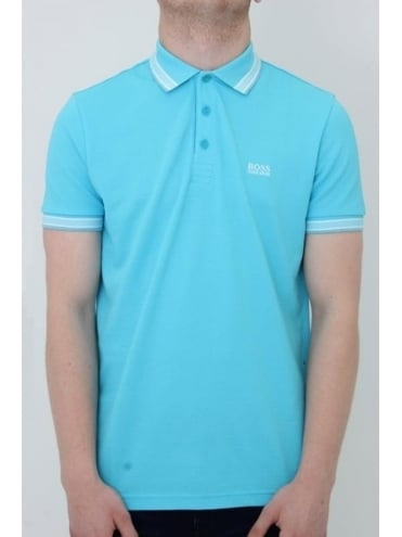 BOSS Green Paddy Polo - Open Blue