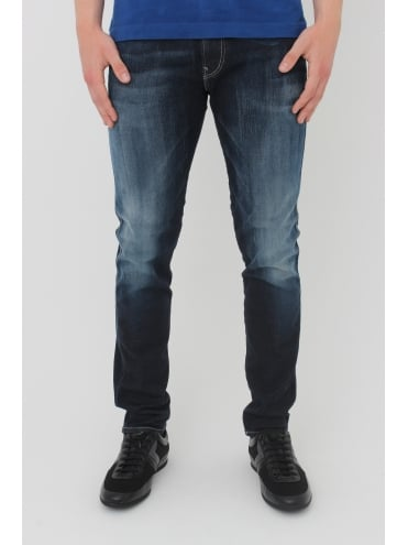 Replay Anbass Hyperflex Jeans - Blue/Black