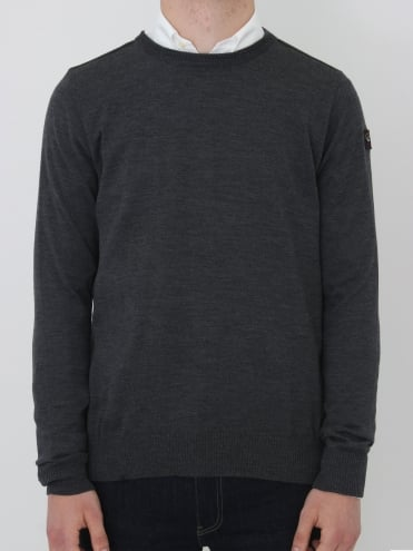 Paul and Shark Cool Touch Crew Neck Knit - Dark Grey