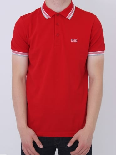 - BOSS Green Paddy Polo - Red