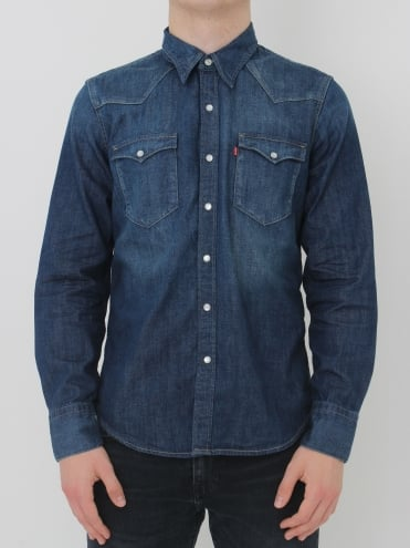 Levis Barstow Western Shirt - Carbon
