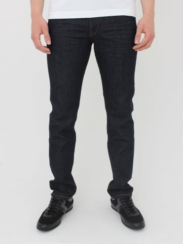 - BOSS Green Delaware 1 Slim Fit Jeans - Dark Blue