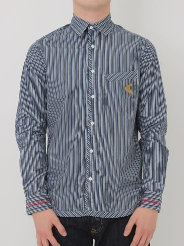 Vivienne Westwood Anglomania Classic Stripe Shirt - Blue/Navy