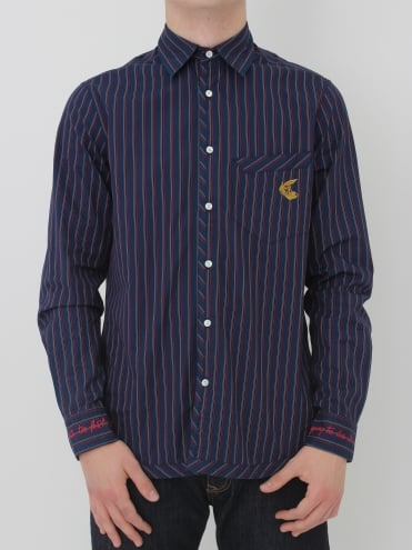 Vivienne Westwood Anglomania Classic Stripe Shirt - Navy