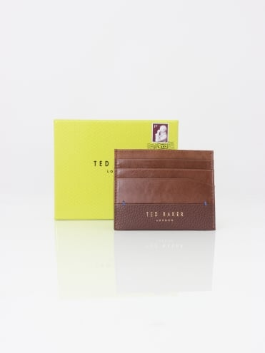 Ted Baker Slippry Leather Card Holder - Chocolate