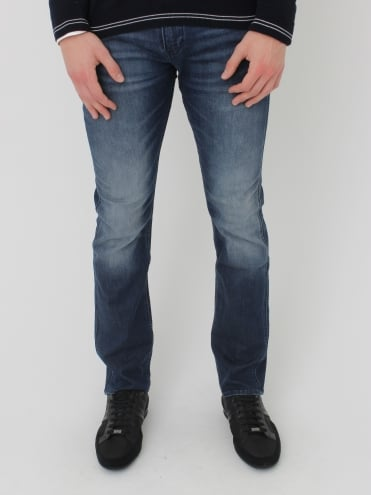 - BOSS Green Delaware 1 Slim Fit Jeans - Navy