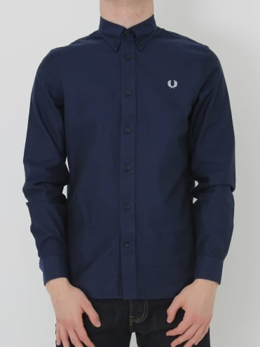 Fred Perry Classic Twill Shirt - Navy