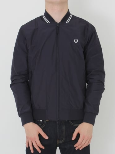 Fred Perry Twin Tipped Bomber Jacket - Navy