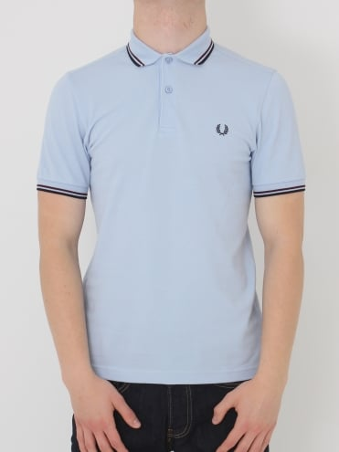 Fred Perry Twin Tipped Classic Polo - Light Smoke