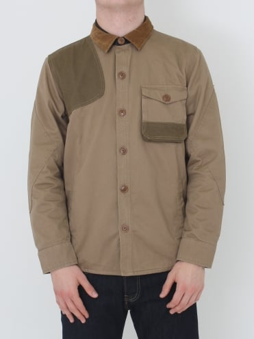 Barbour Clough Overshirt - Stone