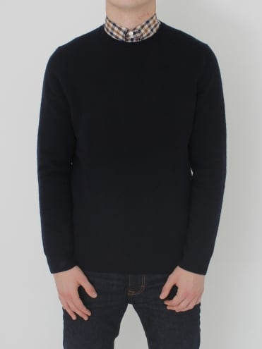 Aquascutum Pennington Elbow Patch Knit - Navy