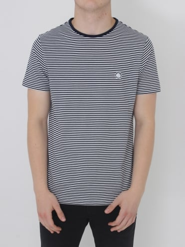 Pretty Green Summerbee Striped T.Shirt - Navy