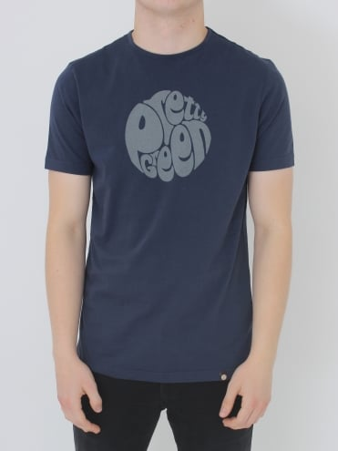 Pretty Green Gillespie Logo T.Shirt - Navy