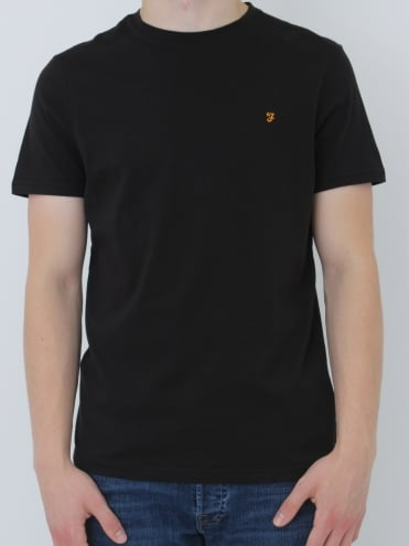Farah Denny Slim Solid T.Shirt - Black