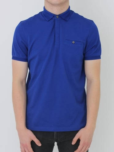 Ted Baker Witnay Textured Polo - Brite Blue
