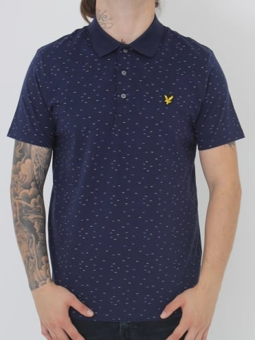 Lyle and Scott Fil Coupe Polo - Navy