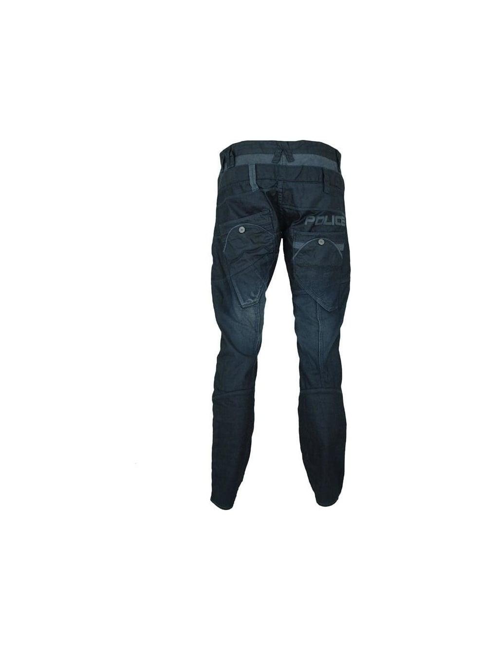 41e1c323 883 Police Lotus Cargo Jeans in Dark Blue - Shop 883 Police at ...