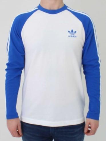 3 Stripe Long Sleeve T.Shirt - Blue