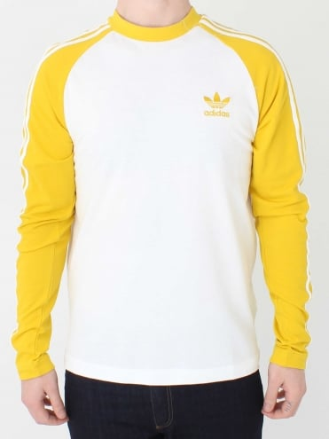 3 Stripe Long Sleeve T.Shirt - Yellow