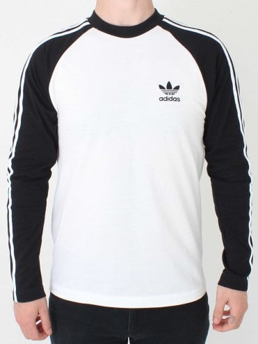 3 Stripe Long Sleeved T.shirt in Black